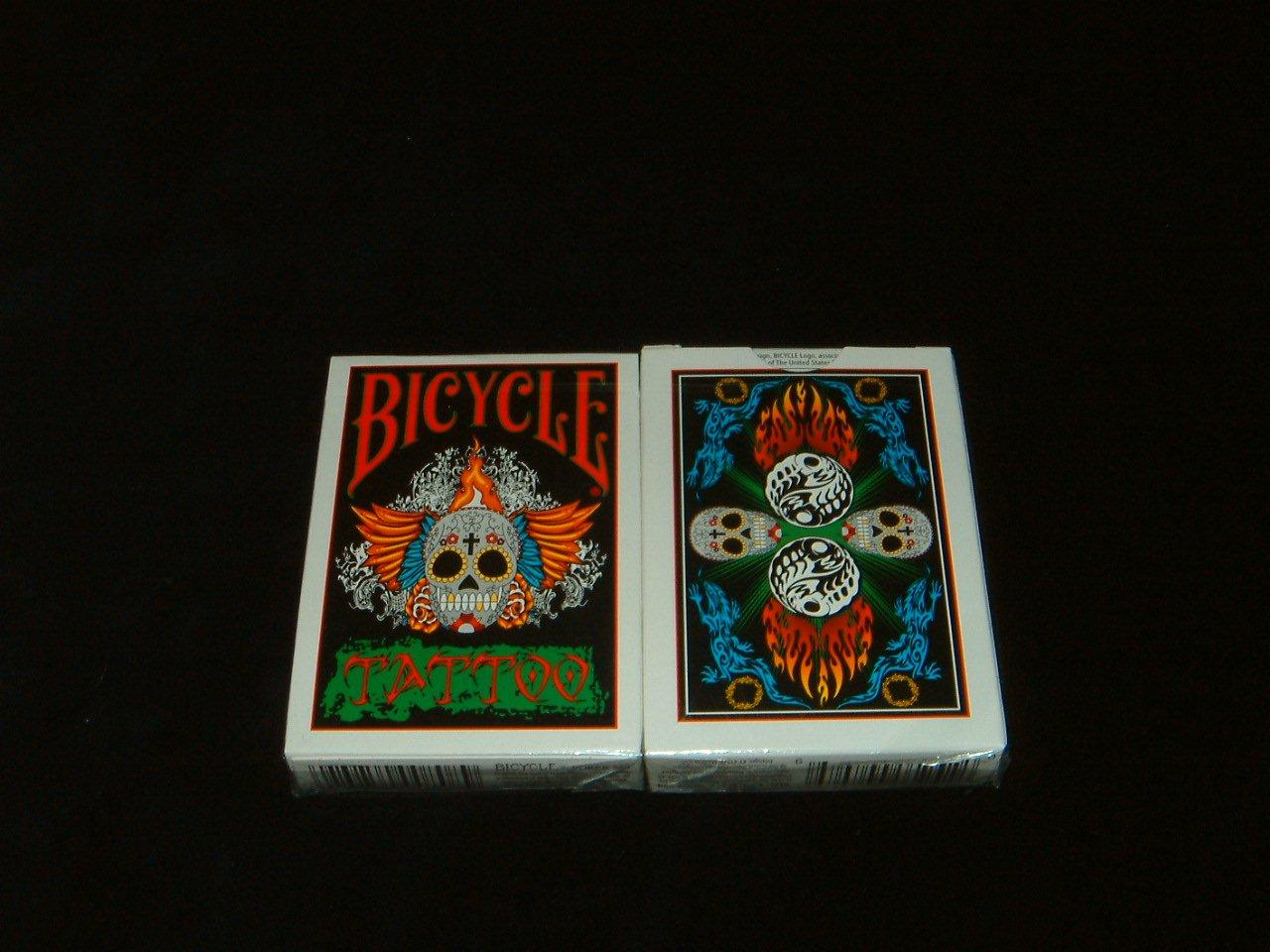 Bicycle tattoo deck garitto for Bicycle club tattoo deck